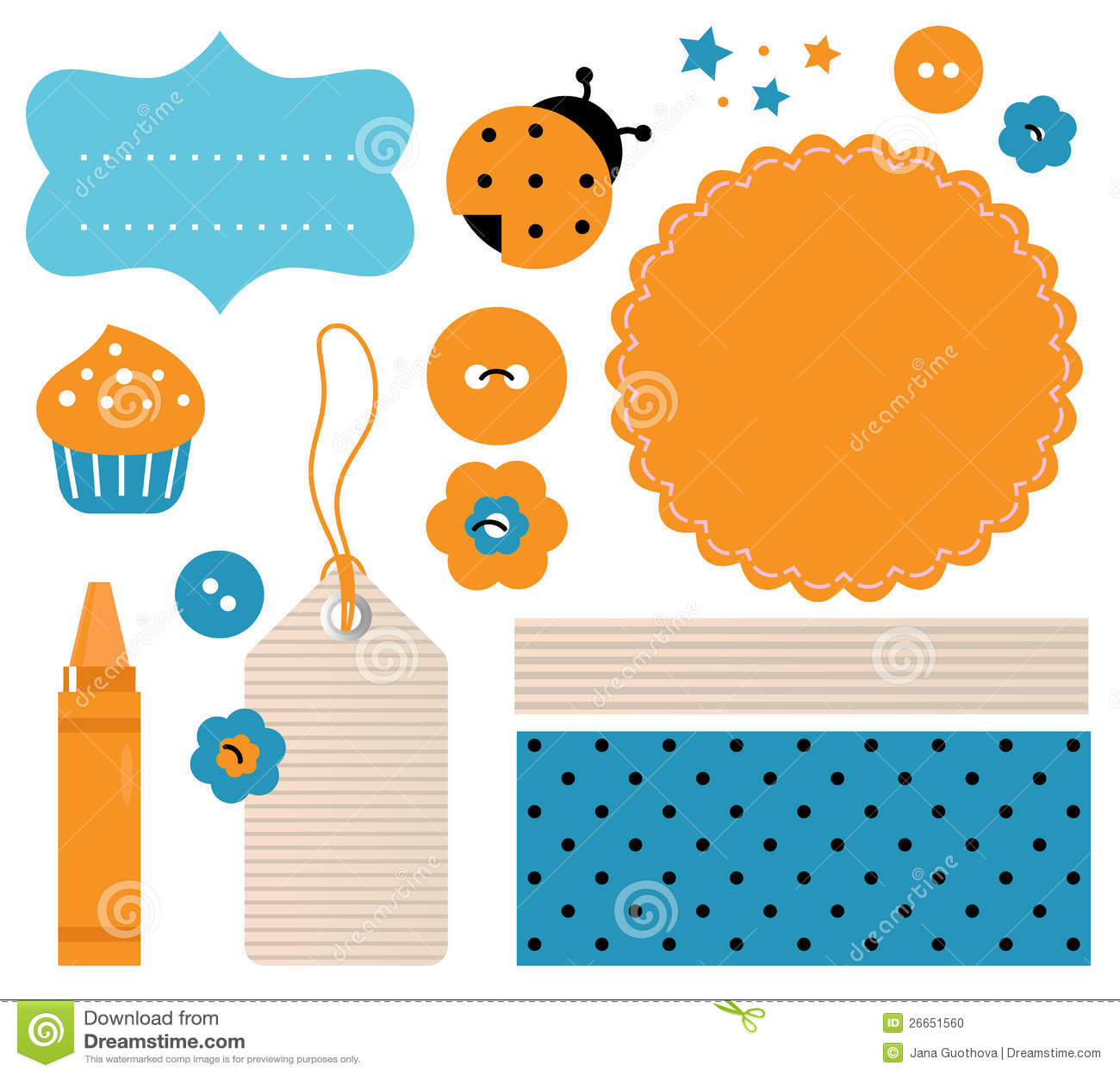 Scrapbook Design Elements Stock Photo - Image: 26651560