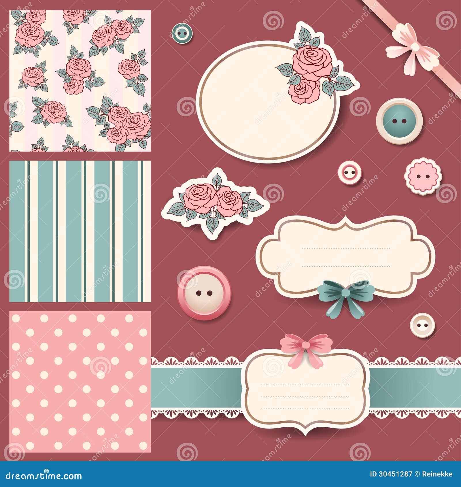 Scrapbook Design Elements Stock Vector Illustration Of Retro 30451287