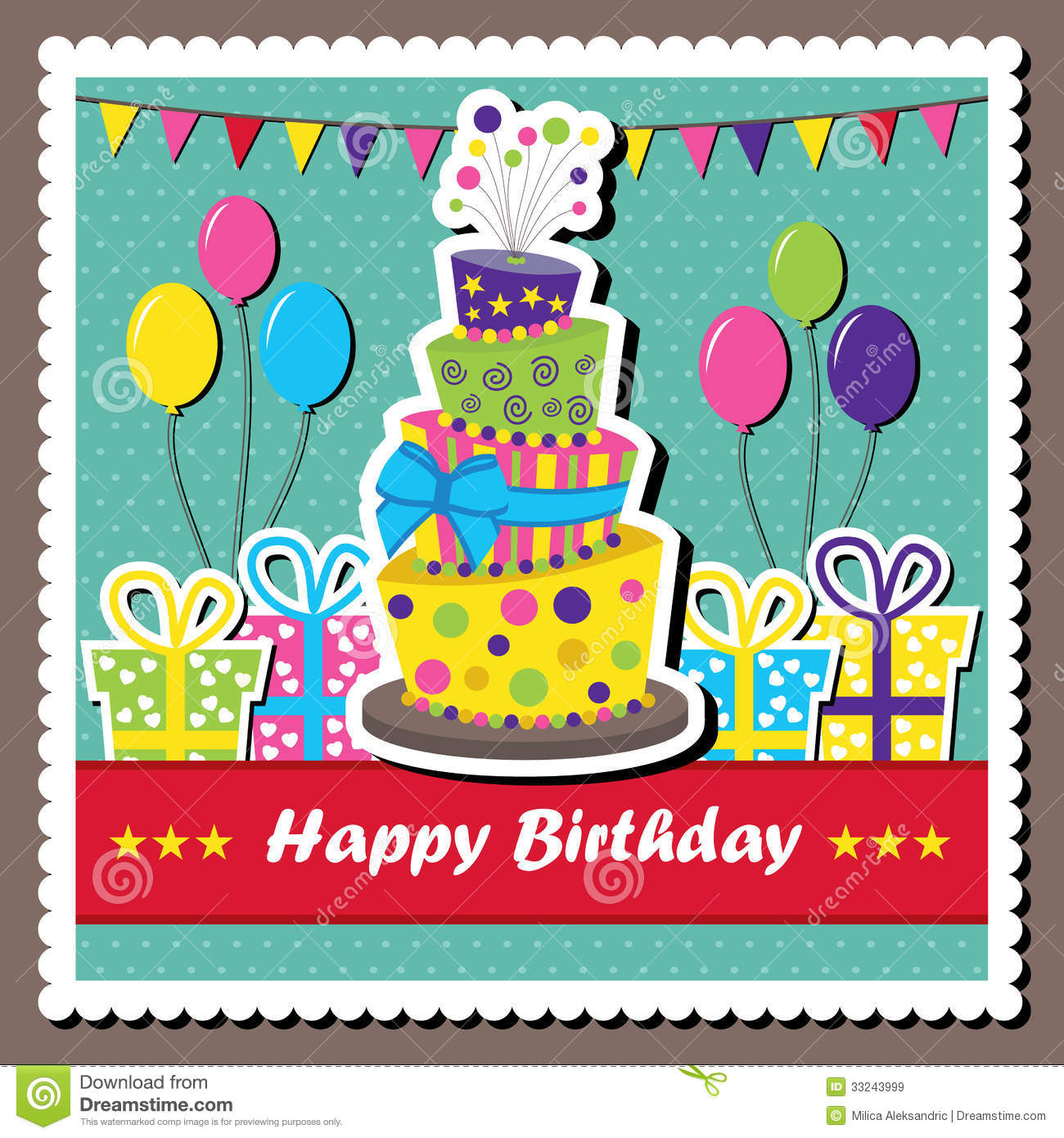 Vector Birthday Card Royalty Free Images Image 33243999 – Vector Birthday Cards