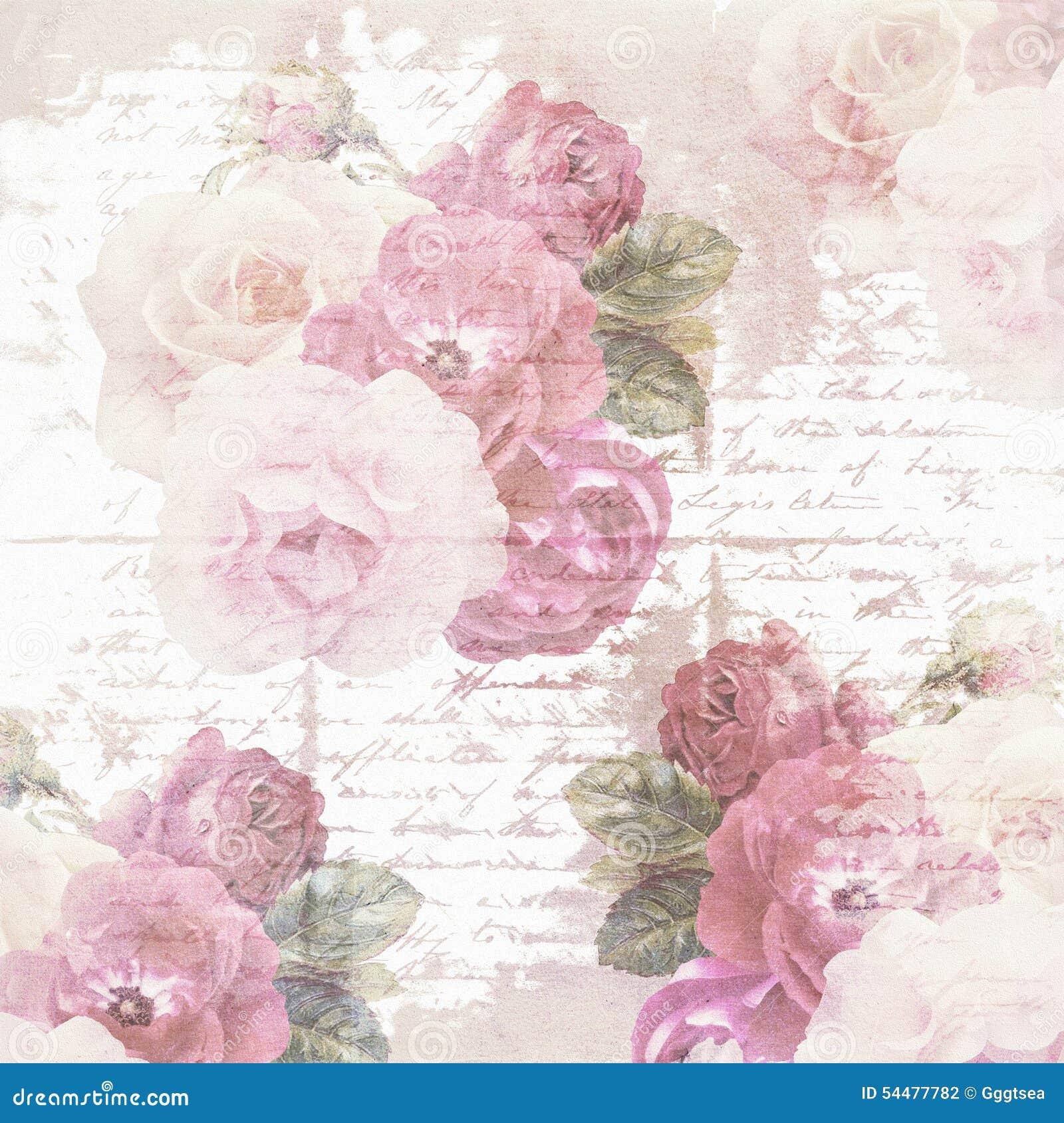 Scrapbook Flower Paper Texture Stock Illustration ...