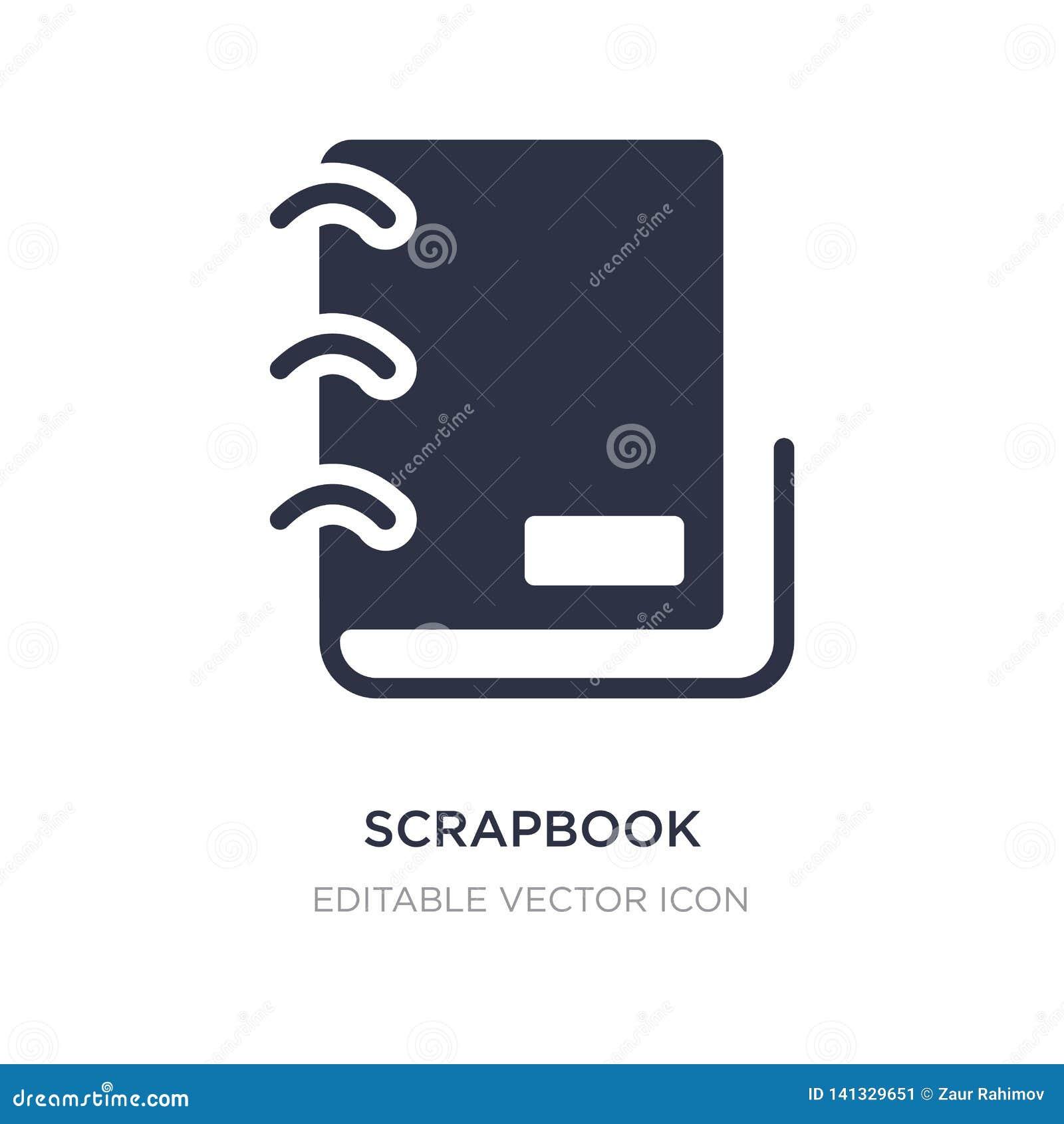 Scrapbook ikona na białym tle Prosta element ilustracja od Różnego pojęcia