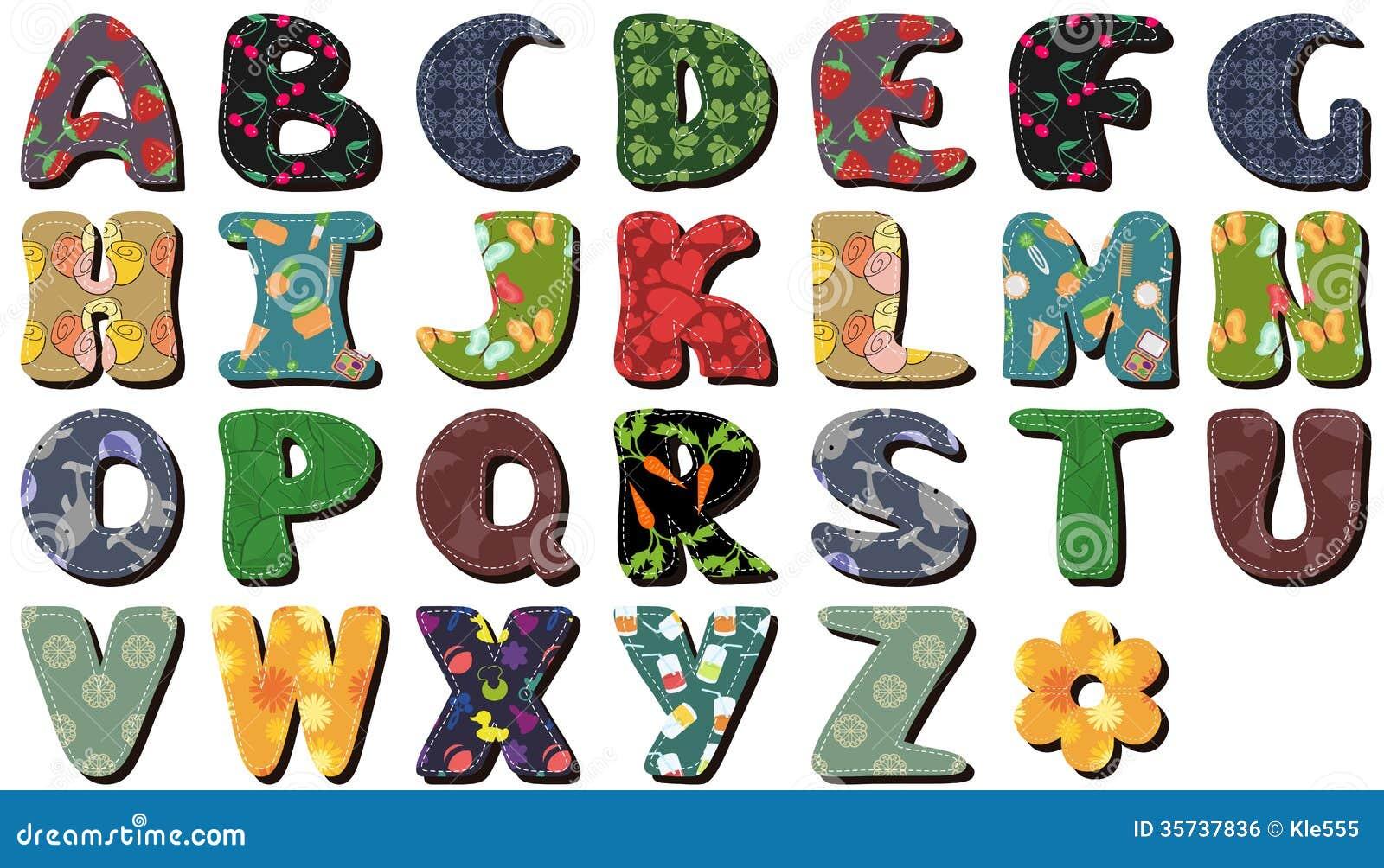 Scrapbook Lace Alphabet Letters Stock Illustration Illustration Of