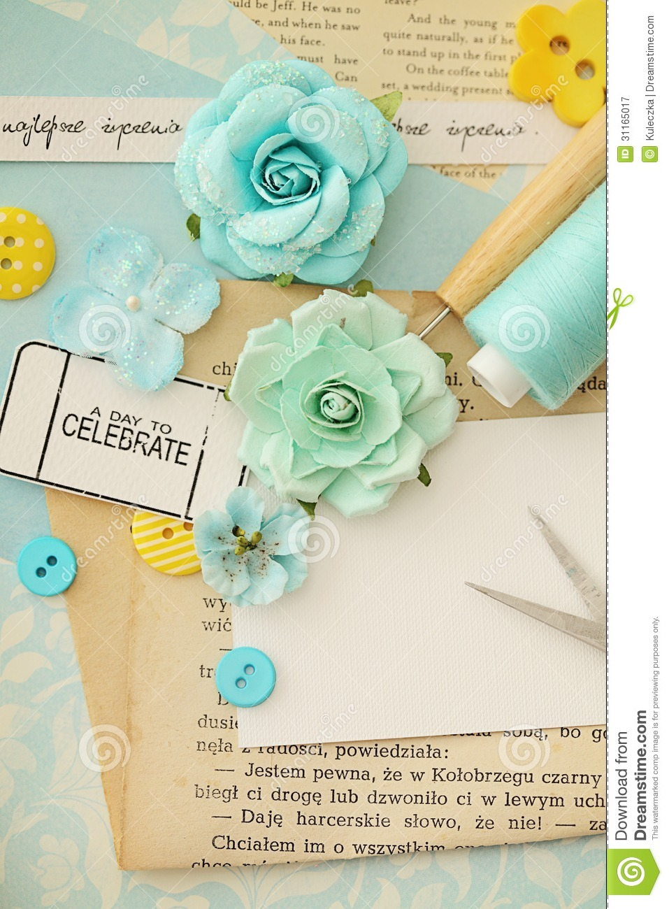 Scrapbook Materials Stock Illustration Illustration Of Papers