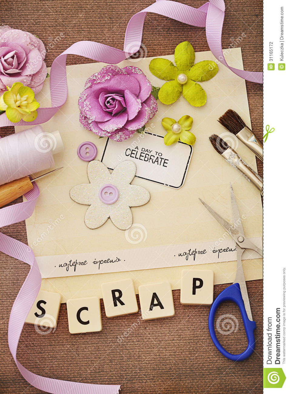 Scrapbook Materials Stock Illustration Illustration Of Creativity