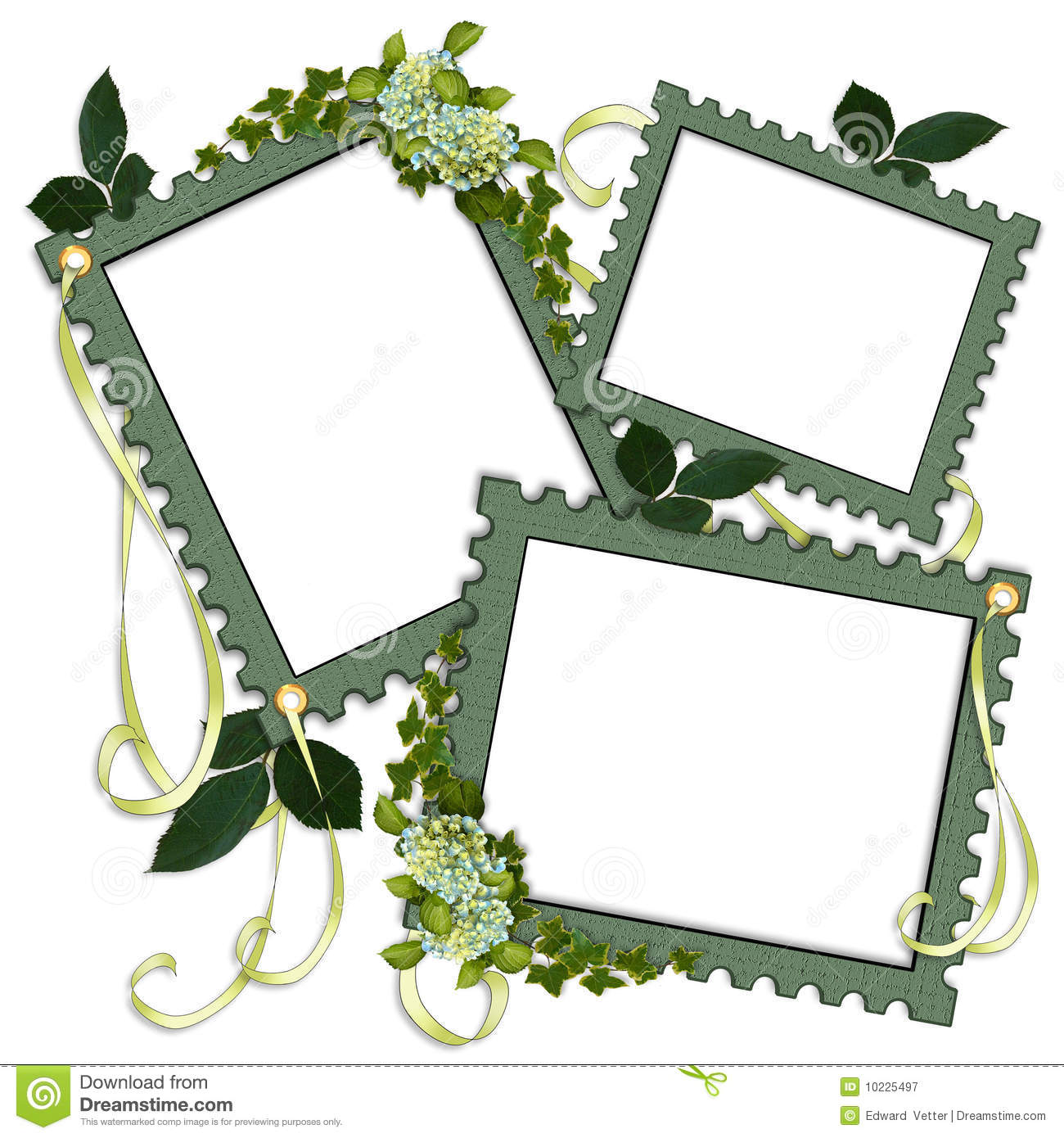 free green floral frame - photo #37
