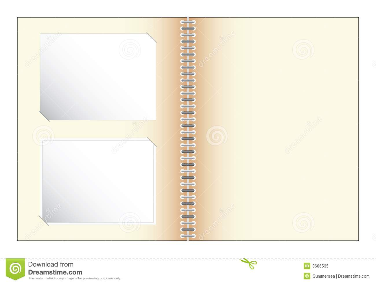 Scrapbook With Photo Illustration Vector Royalty Free
