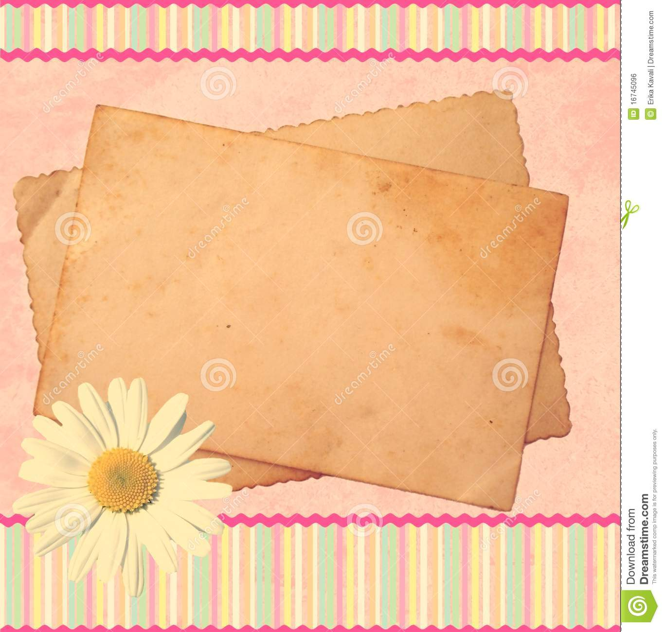 Pink Scrapbook Template Royalty Free Stock Photos - Image: 25077028