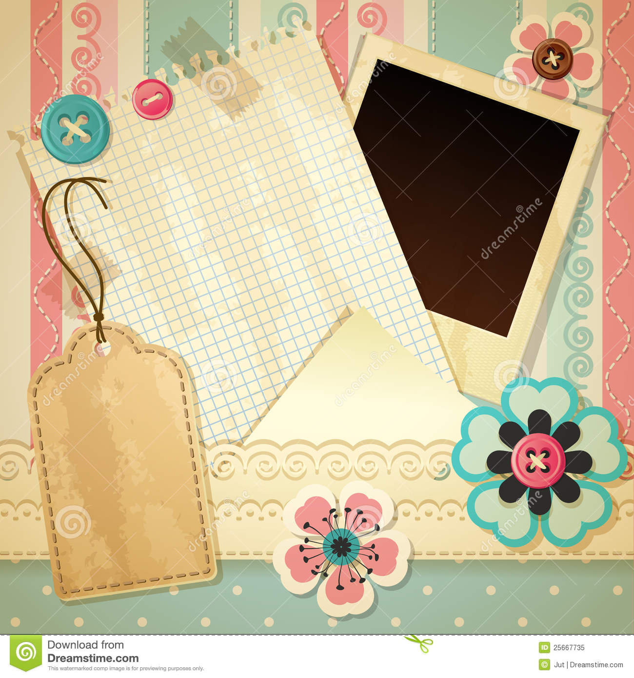 scrapbook template stock vector. illustration of decor - 25667735, Modern powerpoint
