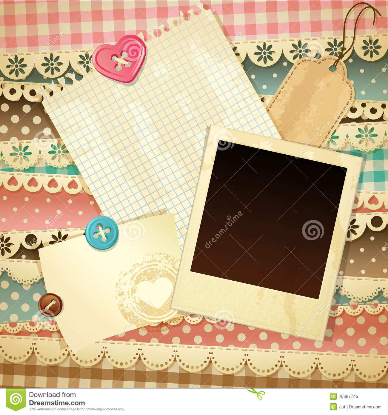 Scrapbook Template Royalty Free Stock Photo Image 25667745