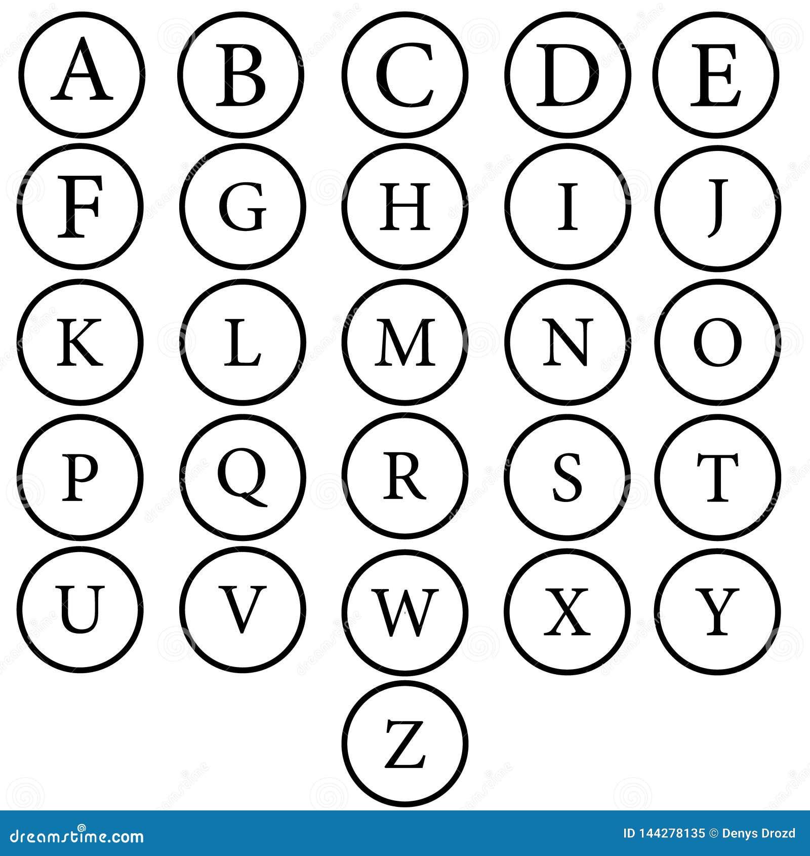 Scrapbooking向量的字母表要素 拉长的现有量信函 字母表写与刷子