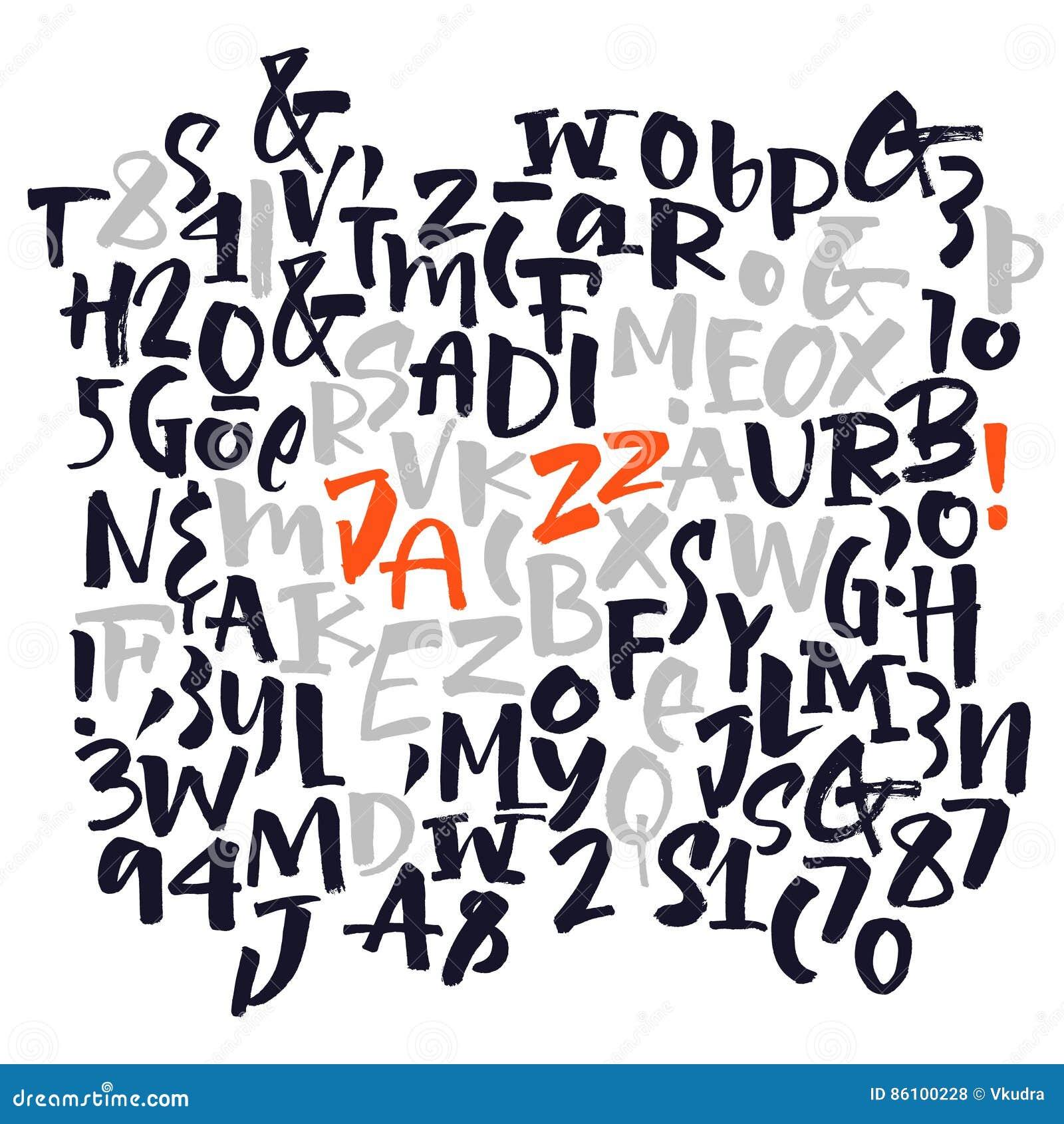 Scrapbooking向量的字母表要素 海报