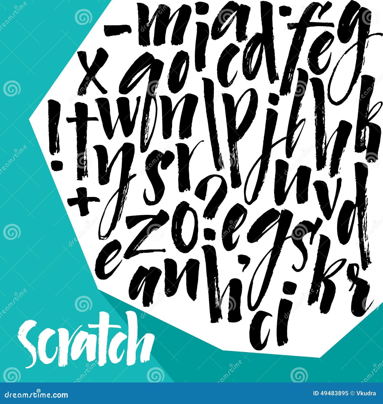 Scrapbooking向量的字母表要素