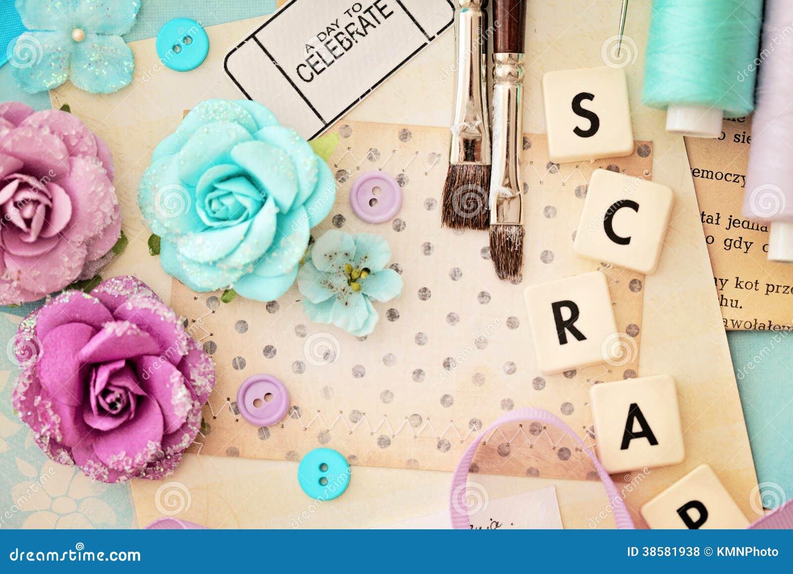 How to scrapbook materials - Scrapbooking Craft Materials Royalty Free Stock Photos