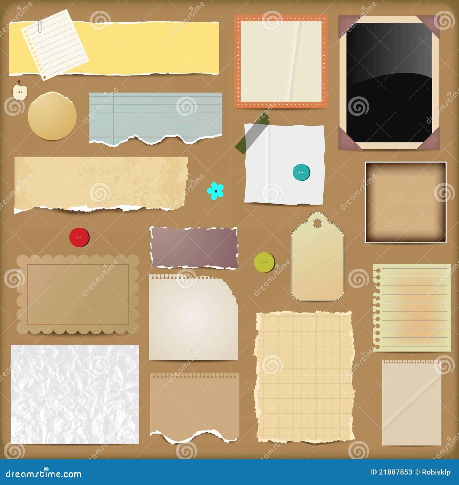 Scrapbooking elementów papiery