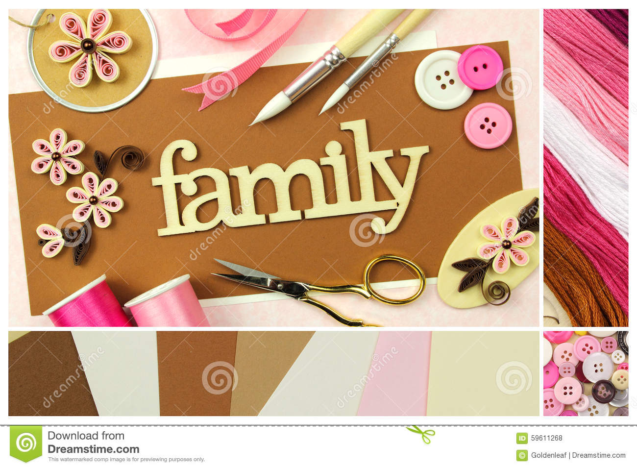 Scrapbooking tools and materials stock photo image of creativity royalty free stock photo m4hsunfo