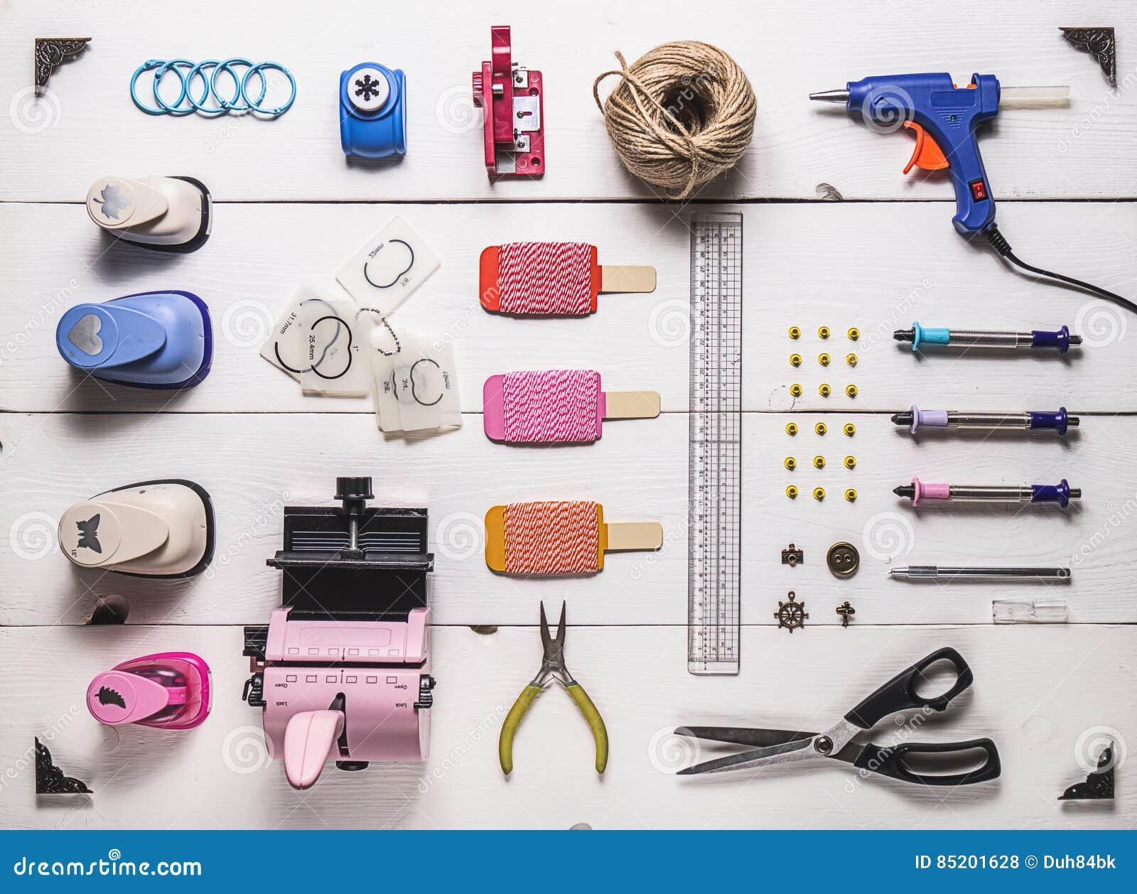 Scrapbooking Tools Stock Photo Image Of Element Decorative 85201628