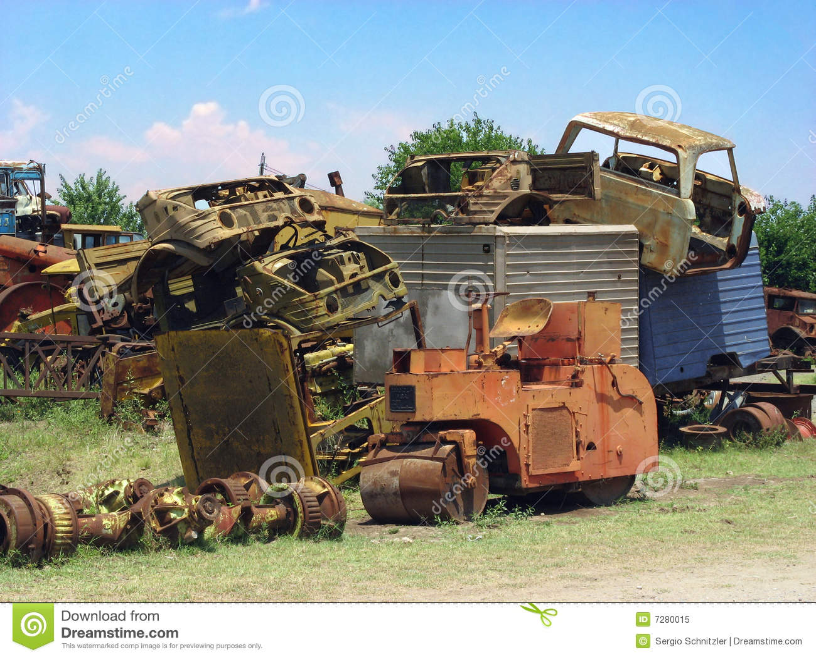 Scrapyard de los coches