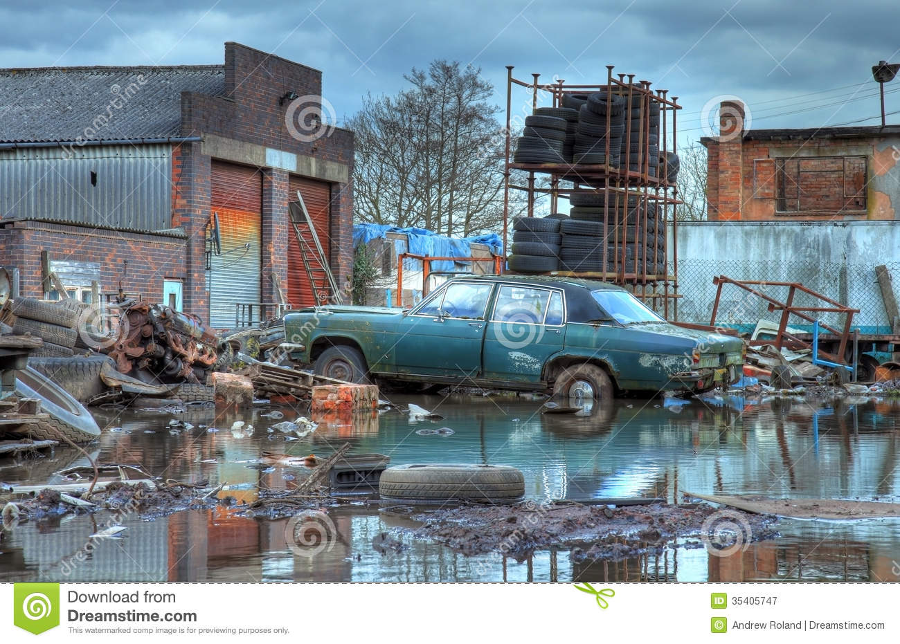 Scrapyard England Royalty Free Stock Photography Image