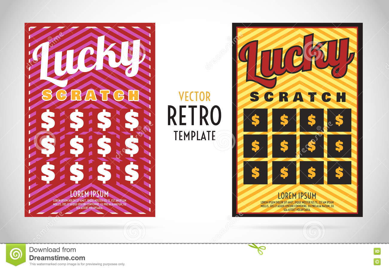 lottery ticket design Template – Ticket Design Template