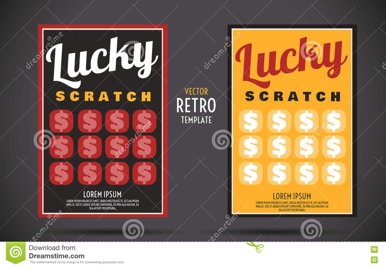 scratch off lottery ticket vector design template stock vector scratch off lottery ticket vector design template