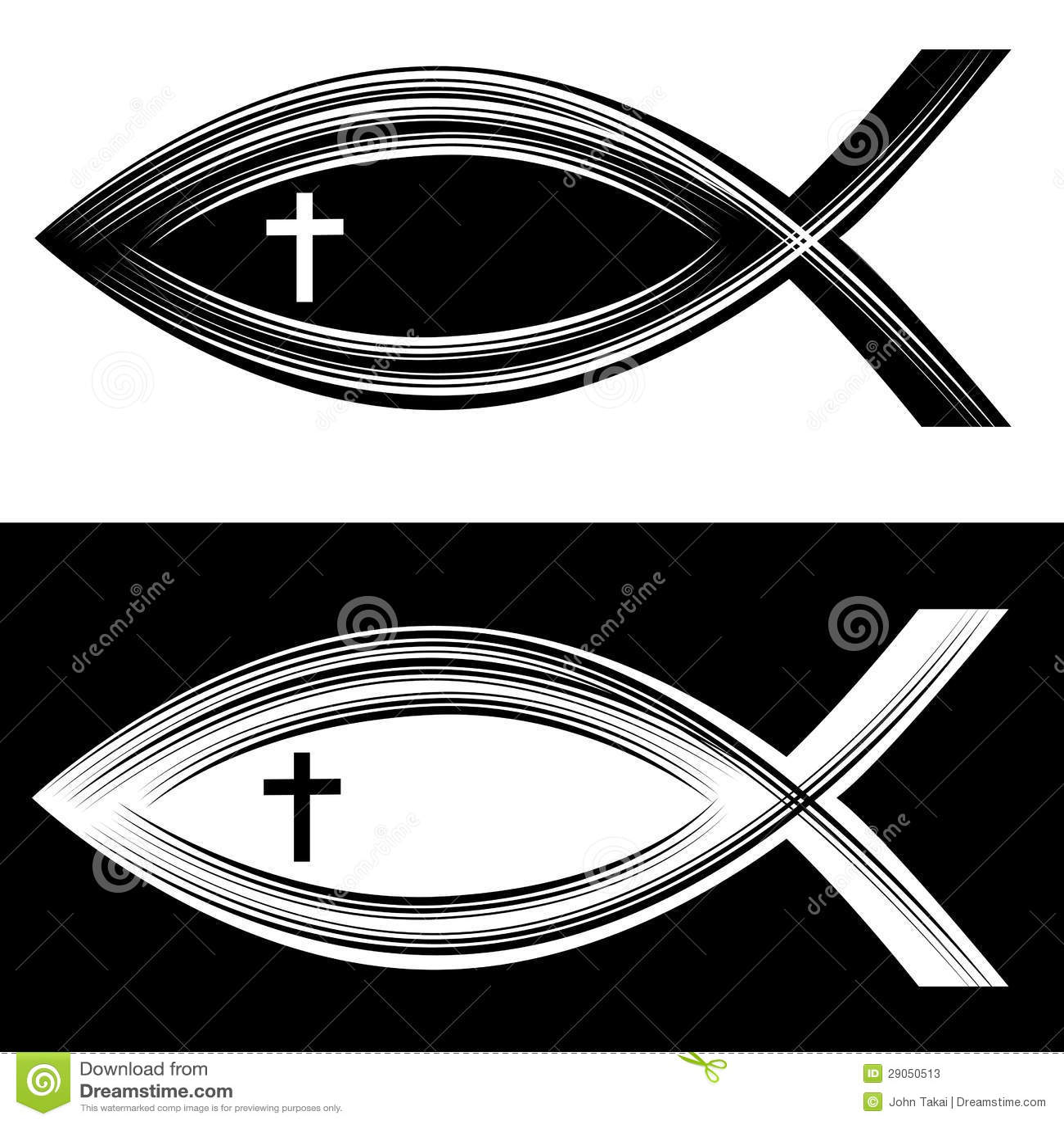 Scratchboard Christian Fish Stock Vector Illustration Of Element