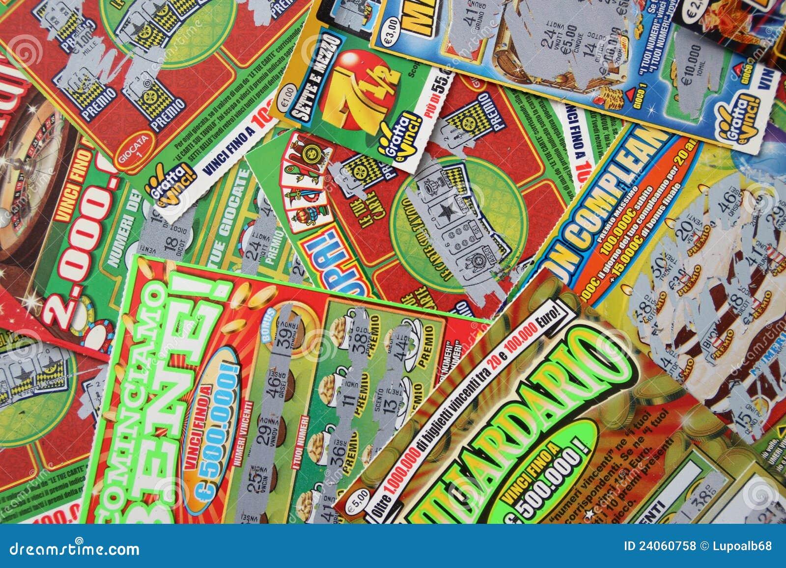 Scratchcards da lotaria