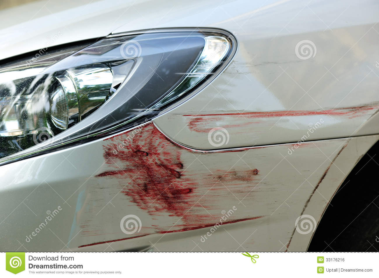 White Tire Paint >> Scratched Car Front Bumper Royalty Free Stock Image ...