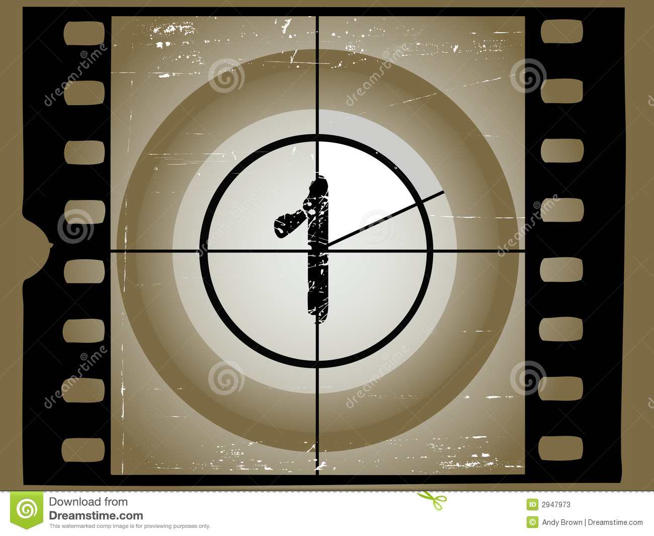 scratched film countdown 1 stock photos image 2947973