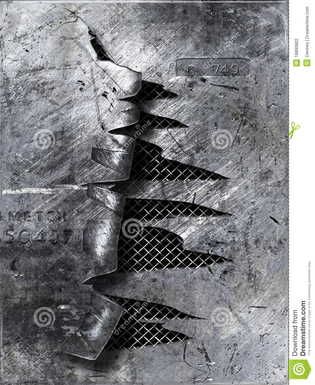 Scratched Metal Ripped Stock Illustration Illustration Of