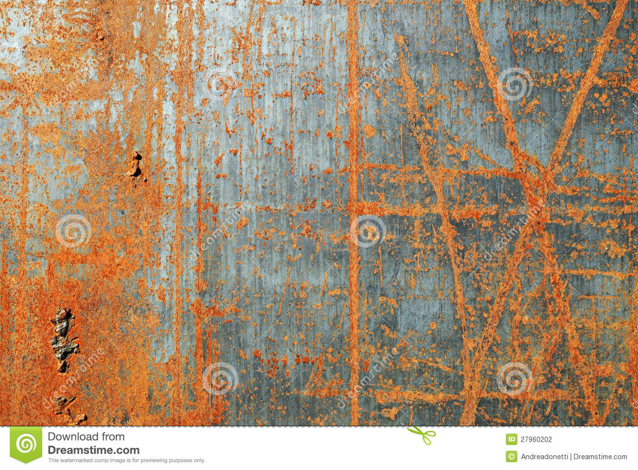 Scratched rusty metal texture