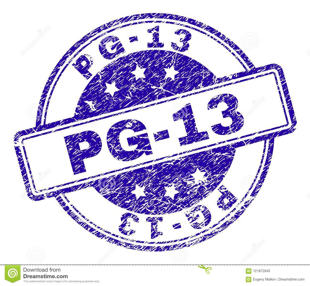 Scratched Textured Pg 13 Stamp Seal Stock Vector Illustration Of