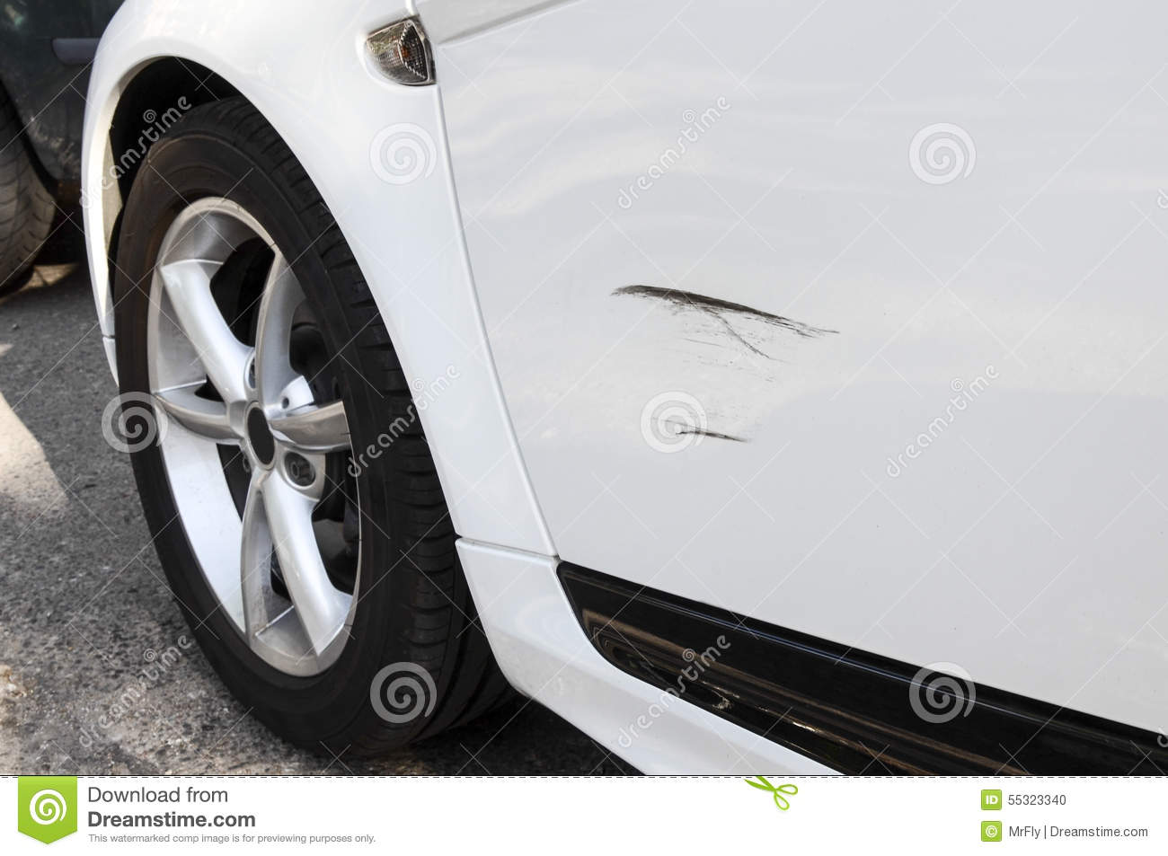 Scratched Vehicle Stock Photo Image 55323340
