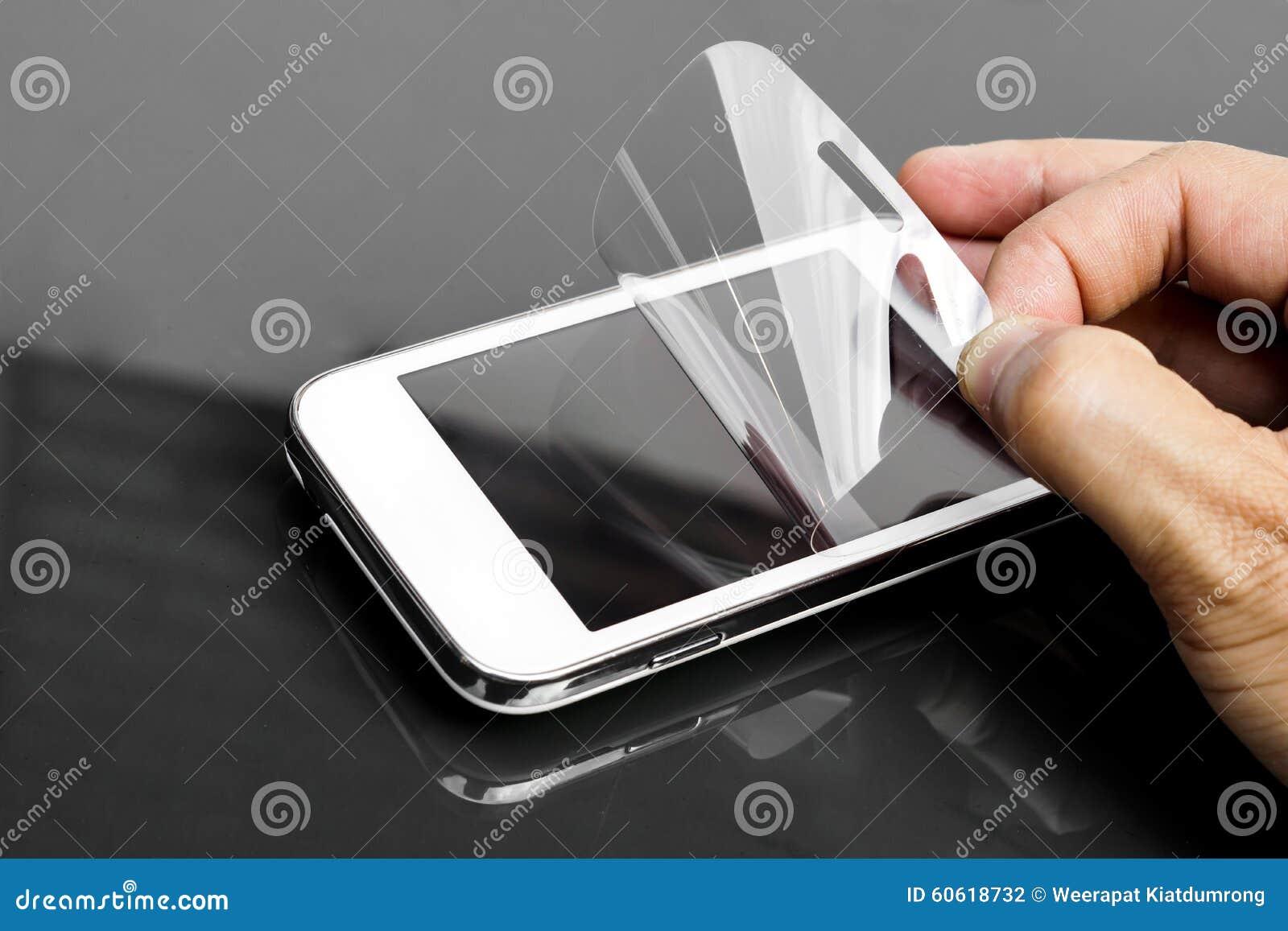 Scratchprooffilm op smartphone