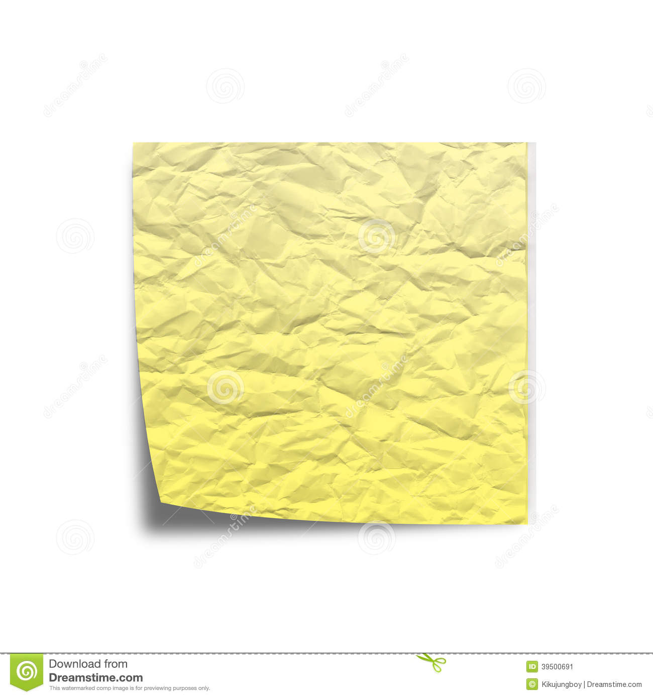 Scratchy Note paper on white back ground