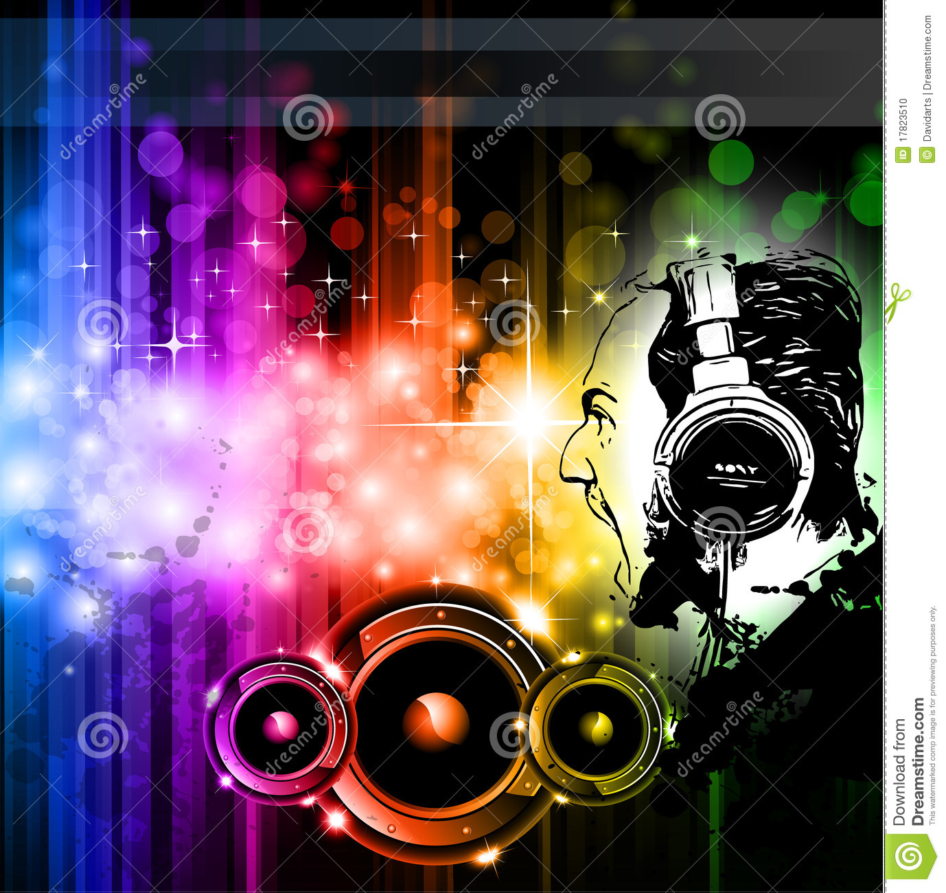 Royalty Free Stock Photo Download Screaming Dj Background