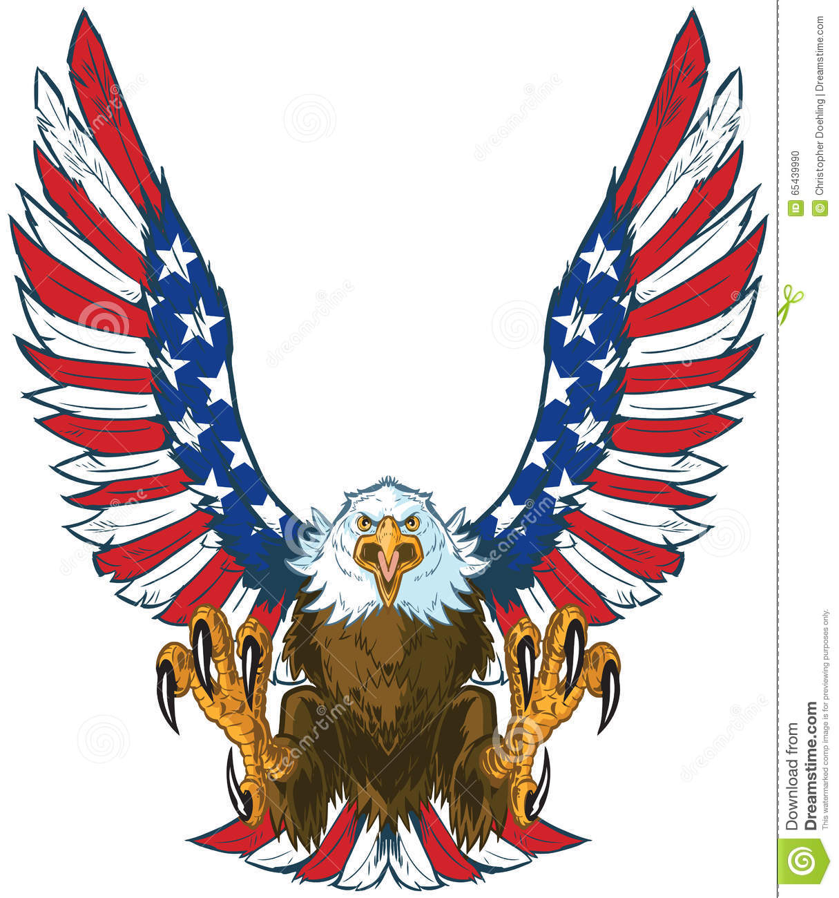 screaming eagle with american flag wings vector clip art stock rh dreamstime com flying eagle images clip art flying eagle wings clipart