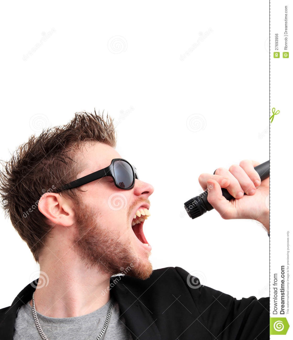 Screaming rocker guy stock photo. Image of indoors, adult