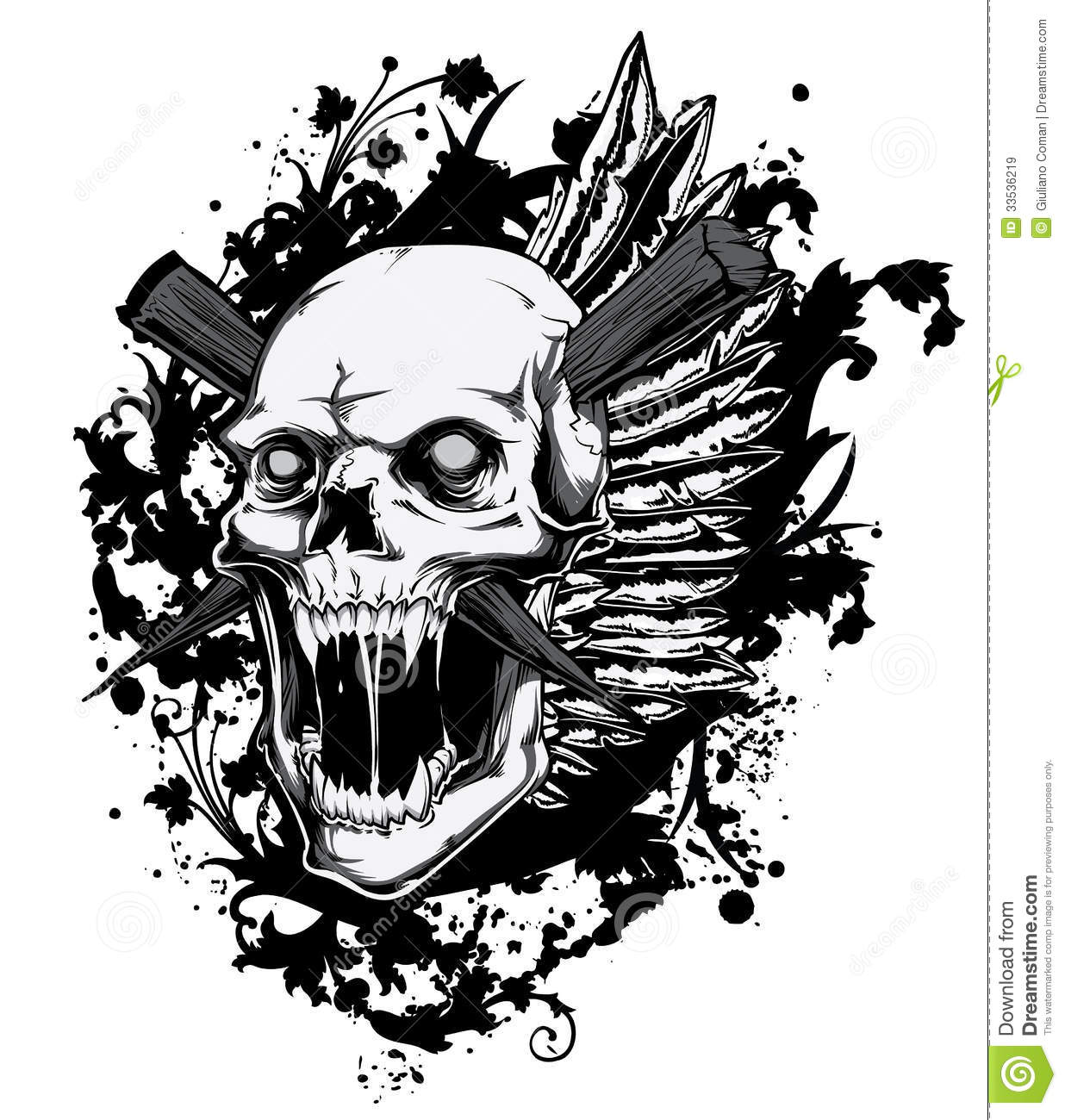 Screaming Skull Royalty Free Stock Images Image 33536219
