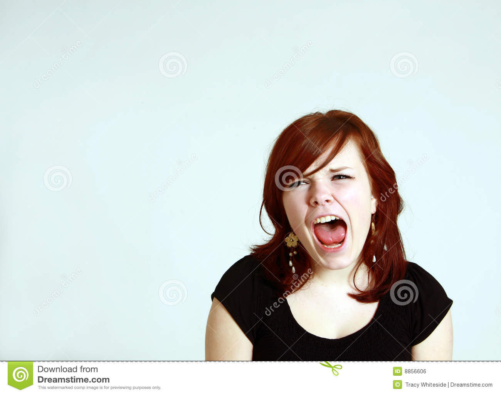 Teen girl screaming