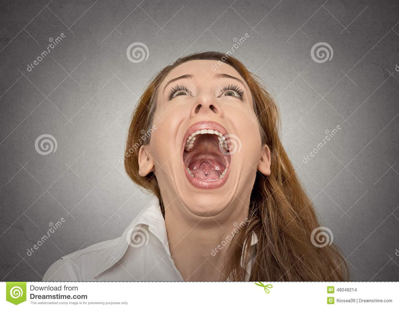 Woman With Mouth Open 7
