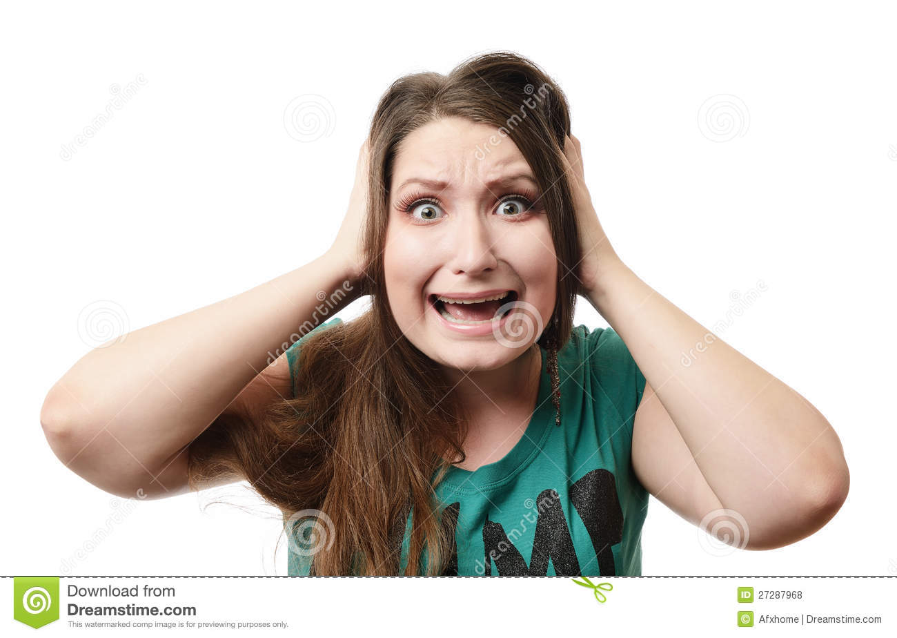 screaming young girl royalty free stock photos   image