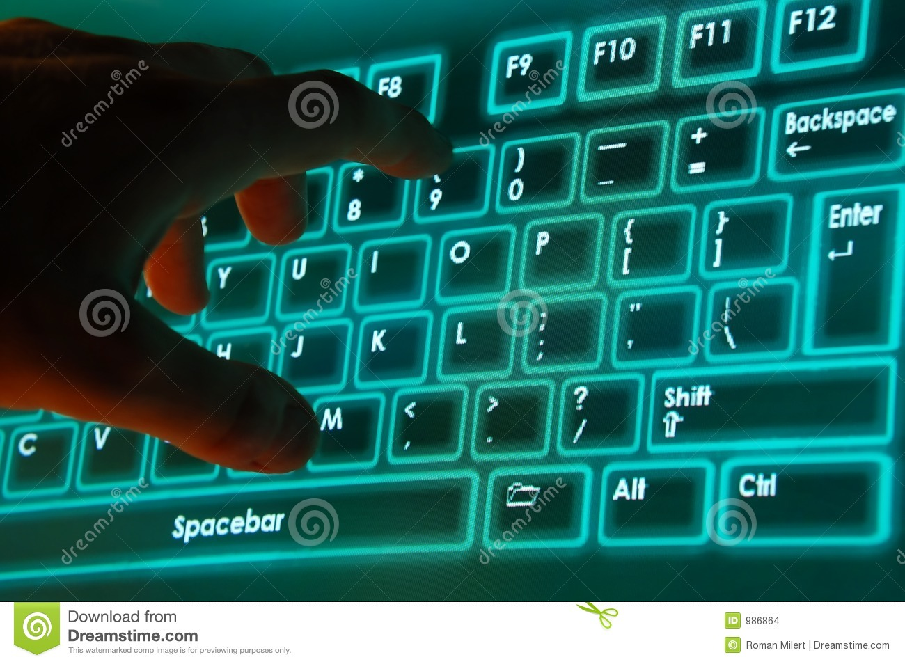 On Screen Keyboard Stock Images Image 986864