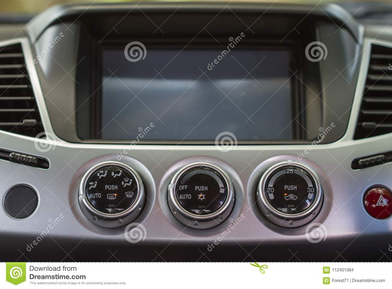 Screen Multimedia System In A Car Stock Photo - Image of