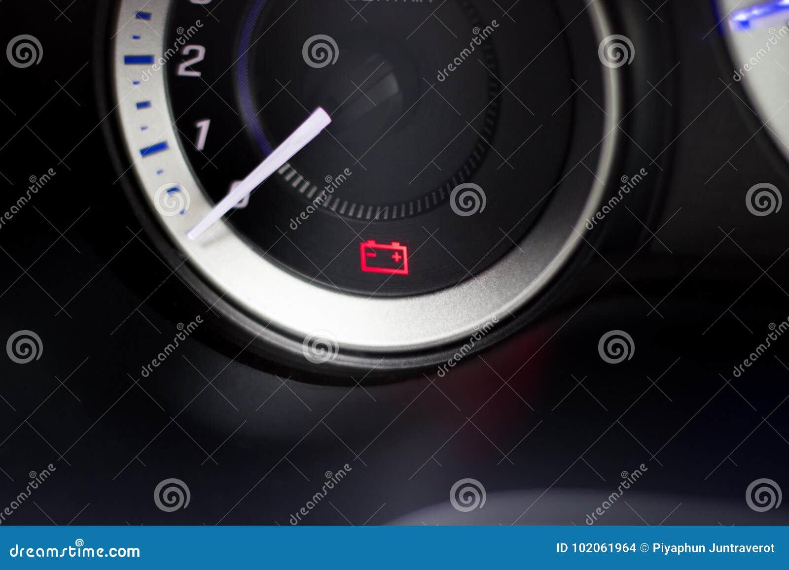 Screen Symbols Battery Warning Light In Car Stock Photo Image Of