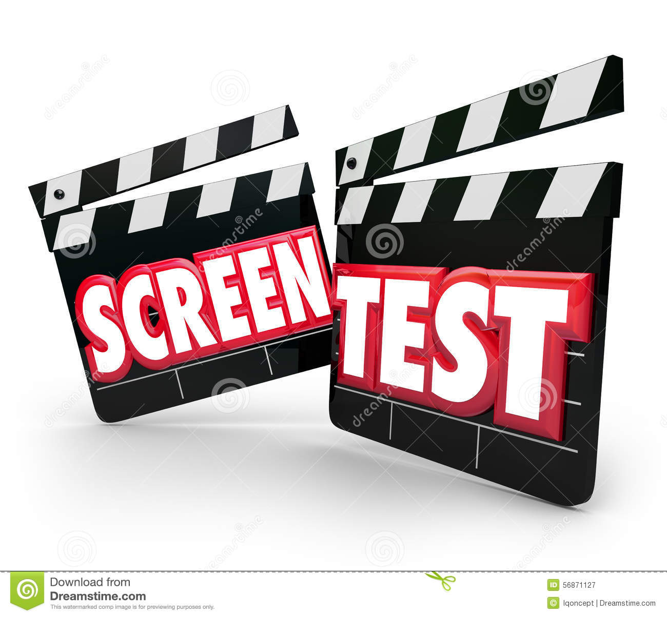 Screen test movie