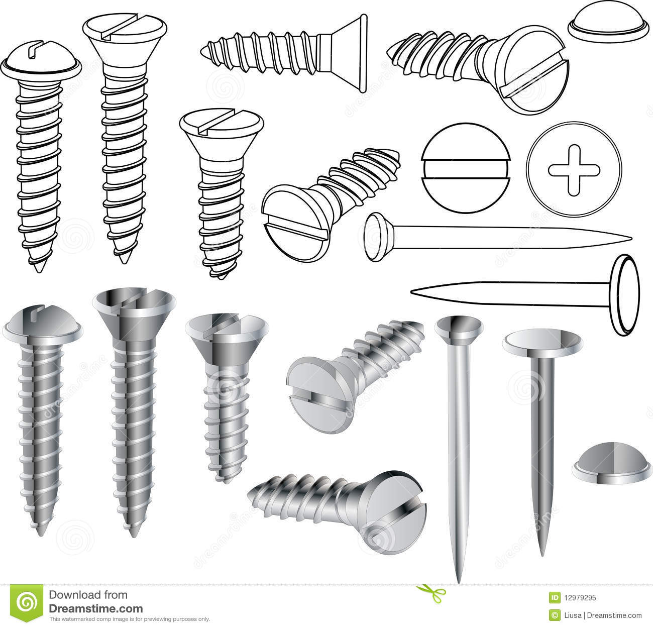 Screws And Nails Royalty Free Stock Photo