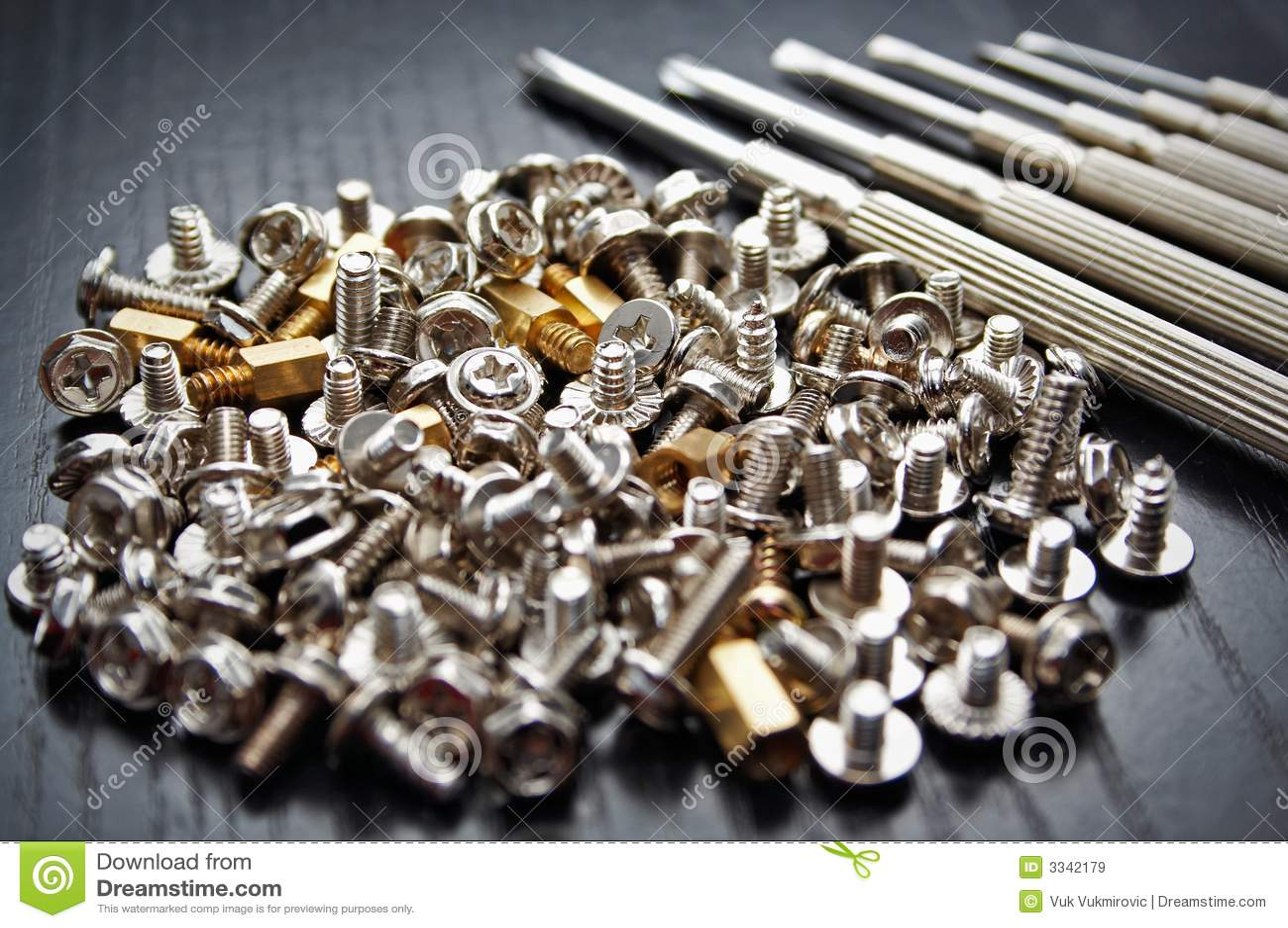 Screws and screwdrivers