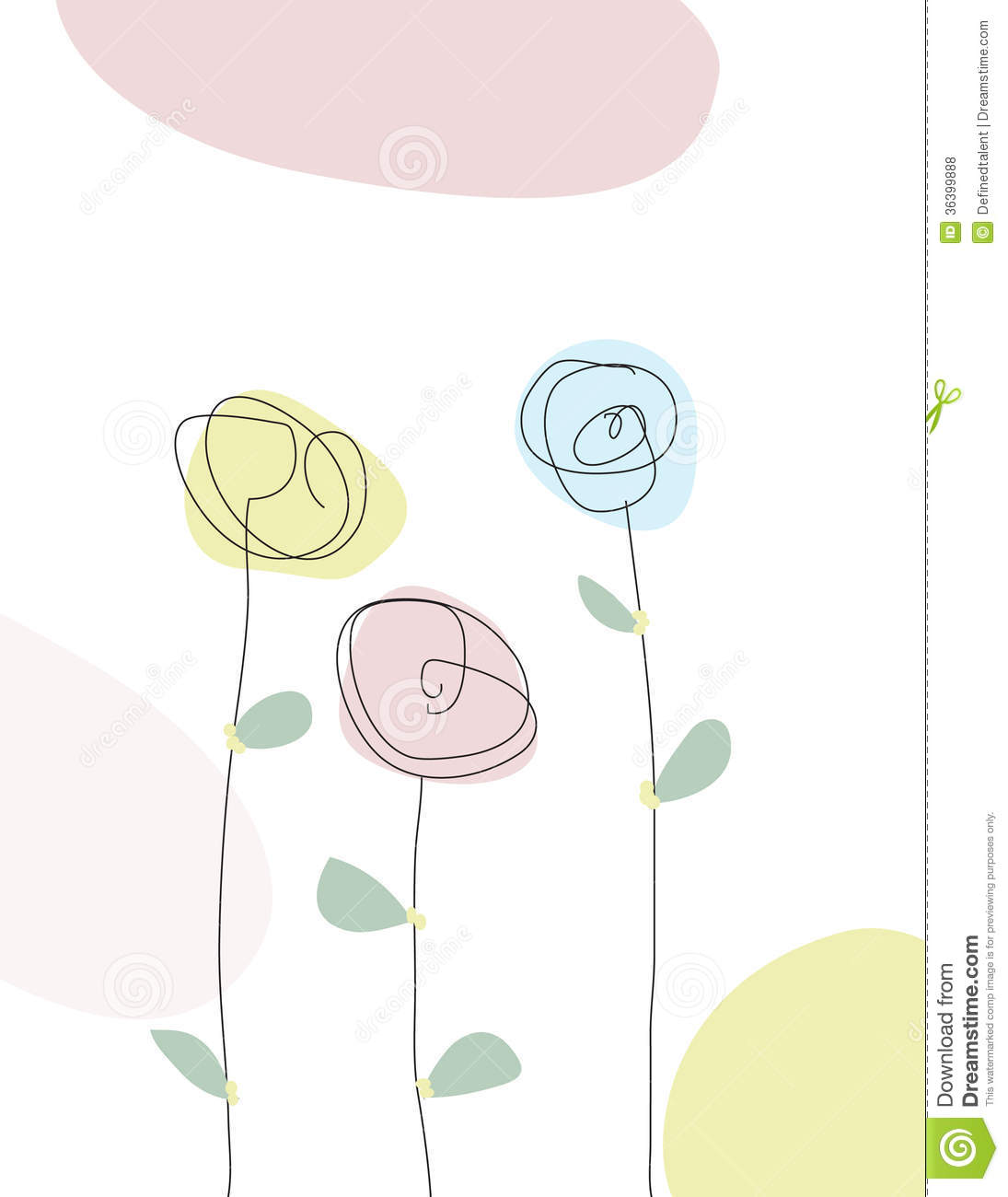 Line Drawing Spring Flowers : Scribble line drawing of spring flowers royalty free stock