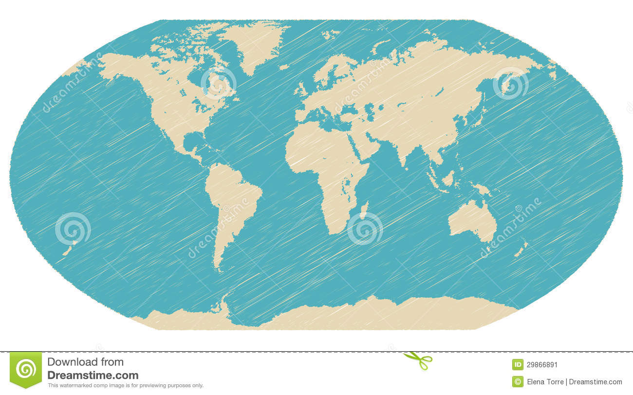 World Globe Map Vector Stock Image Image - Globe map of the world
