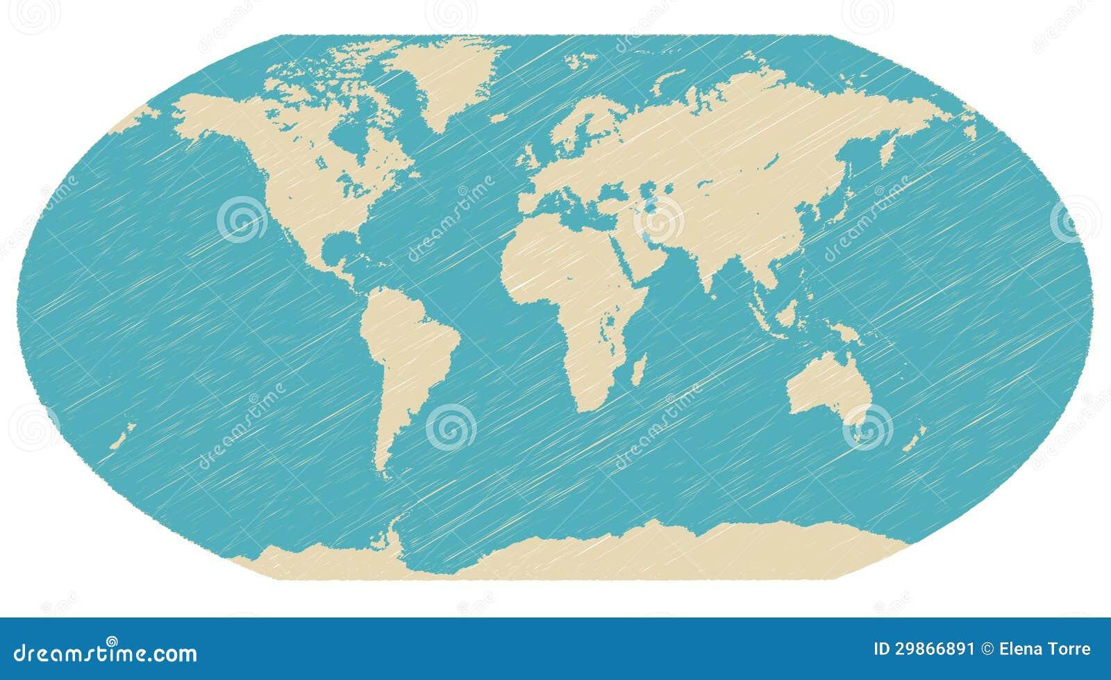 World Globe Map Vector Stock Vector Illustration Of Atlas